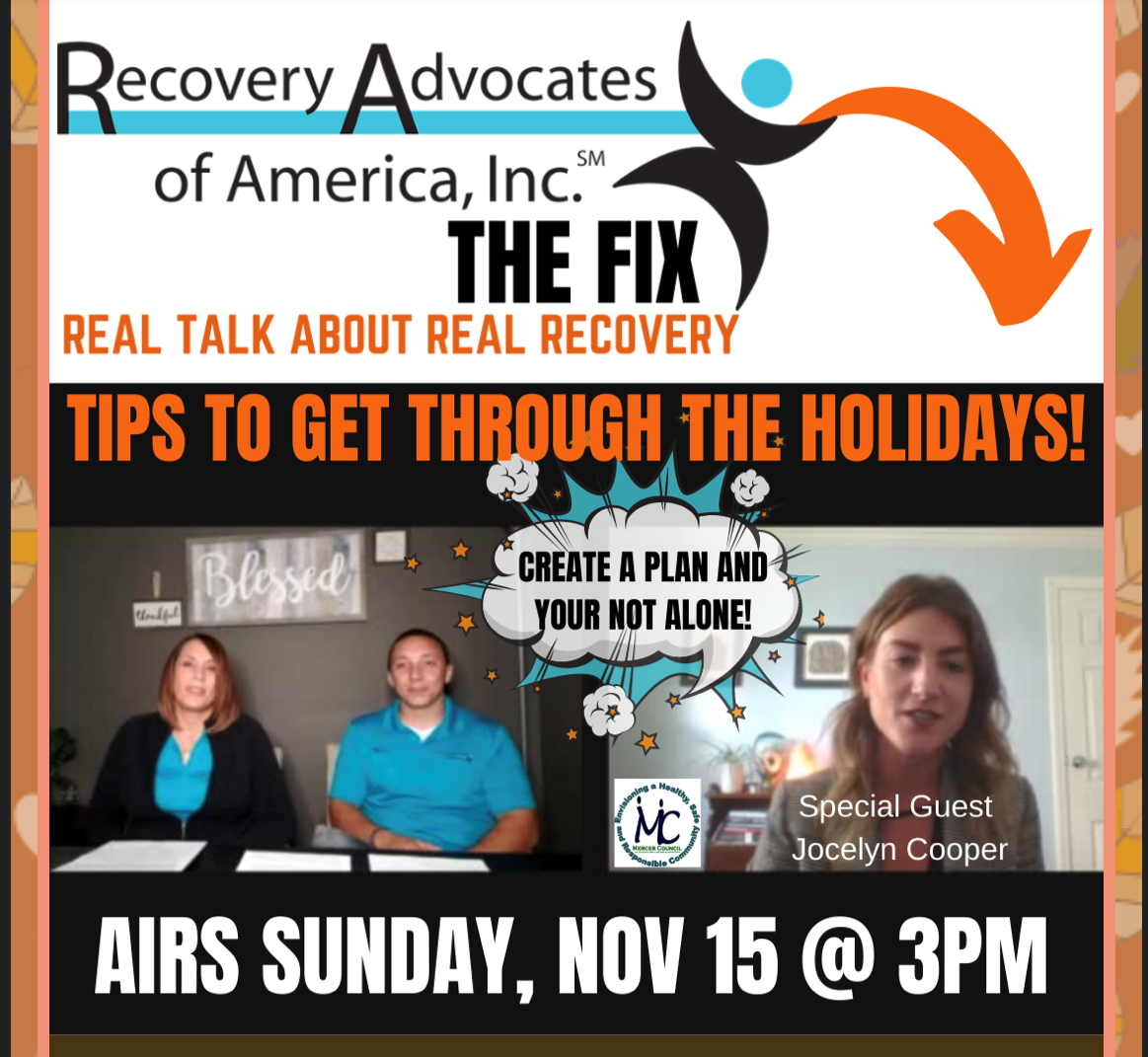 "Stacey, Marc and Jocelyn Talk Navigating Recovery Through the Holidays - Recovery Advocates, ""The Fix"""
